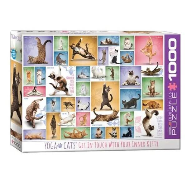 Cuy Games - 1000 PIEZAS - YOGA CATS -