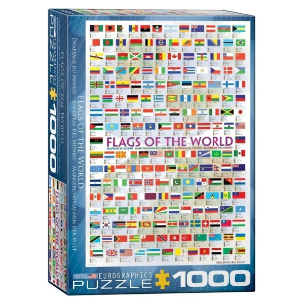1000 PIEZAS – Flags of the  World