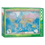 Cuy Games - 1000 PIEZAS - Map of the World with Flags -