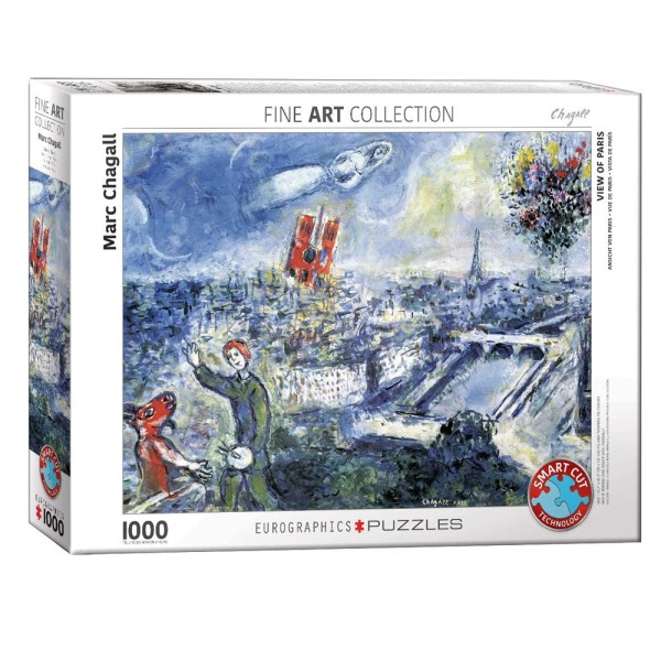 1000 PIEZAS – Le Bouquet  de Paris by Chagall