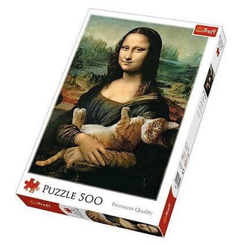 Cuy Games - 500 PIEZAS - MONA LISA Y GATO -