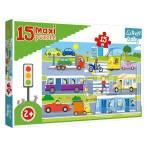 Cuy Games - INFANTIL - 15 PIEZAS - MAXI VEHICULOS -