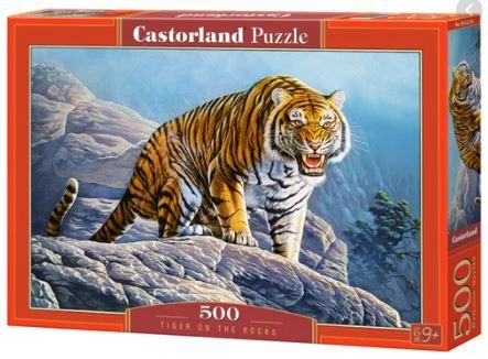500 PIEZAS – TIGER ON THE ROCKS