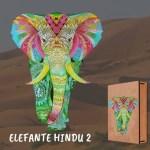 Cuy Games - ELEFANTE COLORIDO - MADERA -