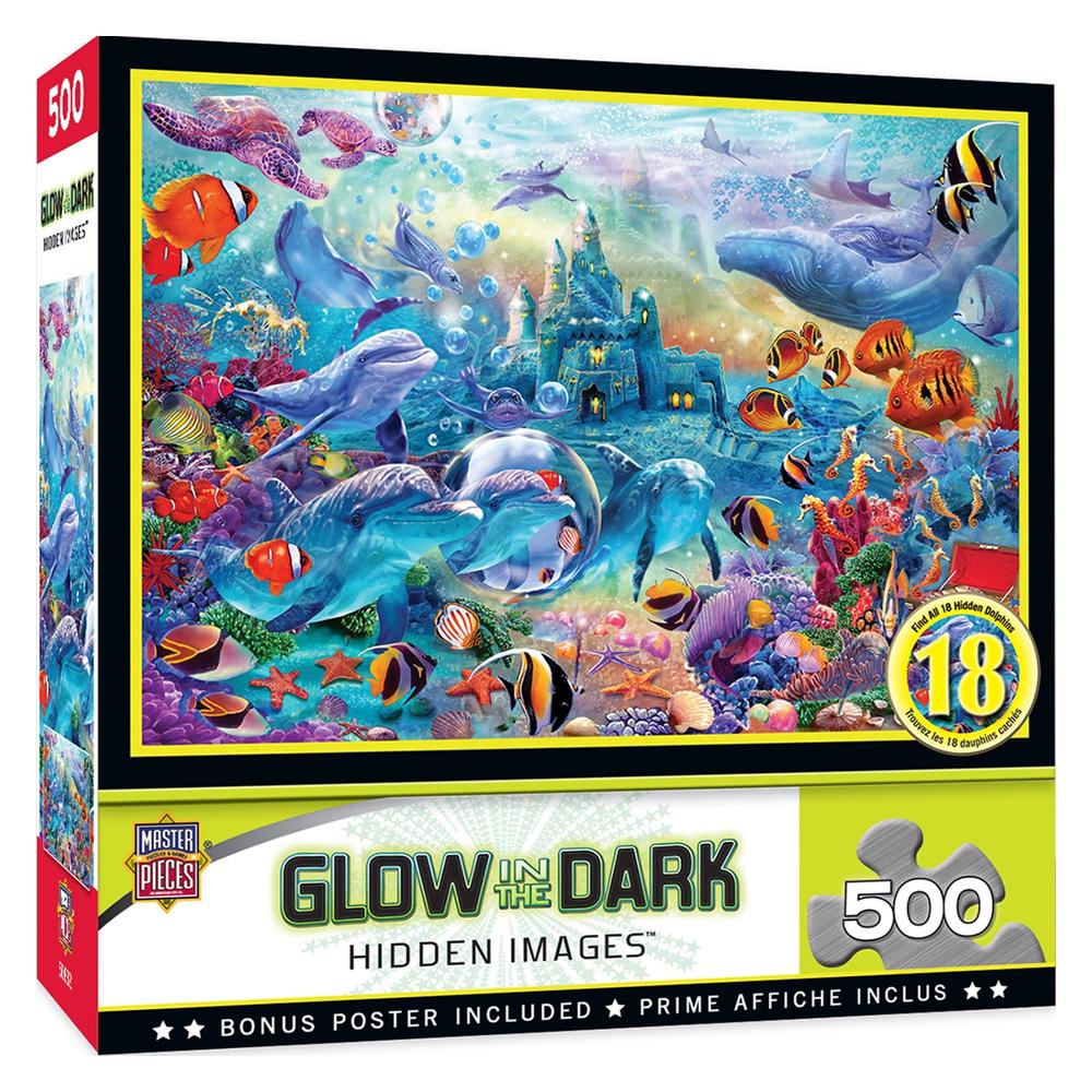 Cuy Games - 500 PIEZAS - SEA CASTLE DELIGHT GLOW IN THE DARK -