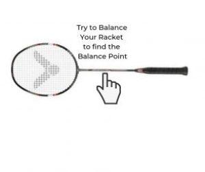 Balance point of badminton racket