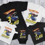 Personalized Hot Wheels Birthday Shirt Cuztom Threadz
