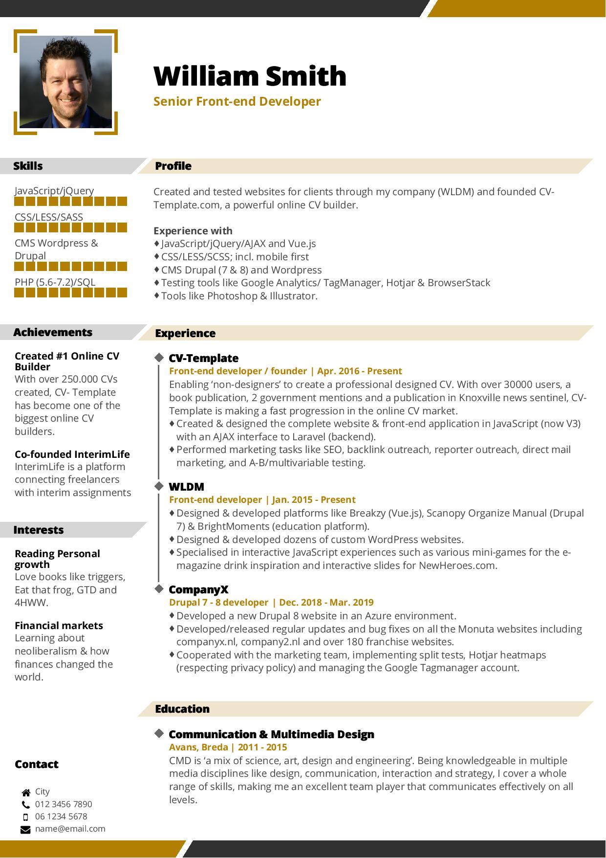 Choose Your CV Template  Free Online CV Builder