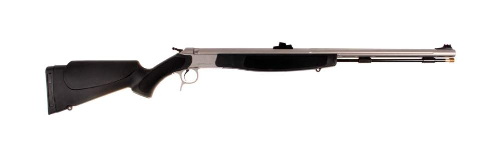 medium resolution of optima v2 50 caliber stainless steel black stock fiber optic sights muzzleloader rifle