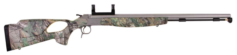 medium resolution of optima v2 realtree xtra green camo thumbhole stock stainless steel scope mount