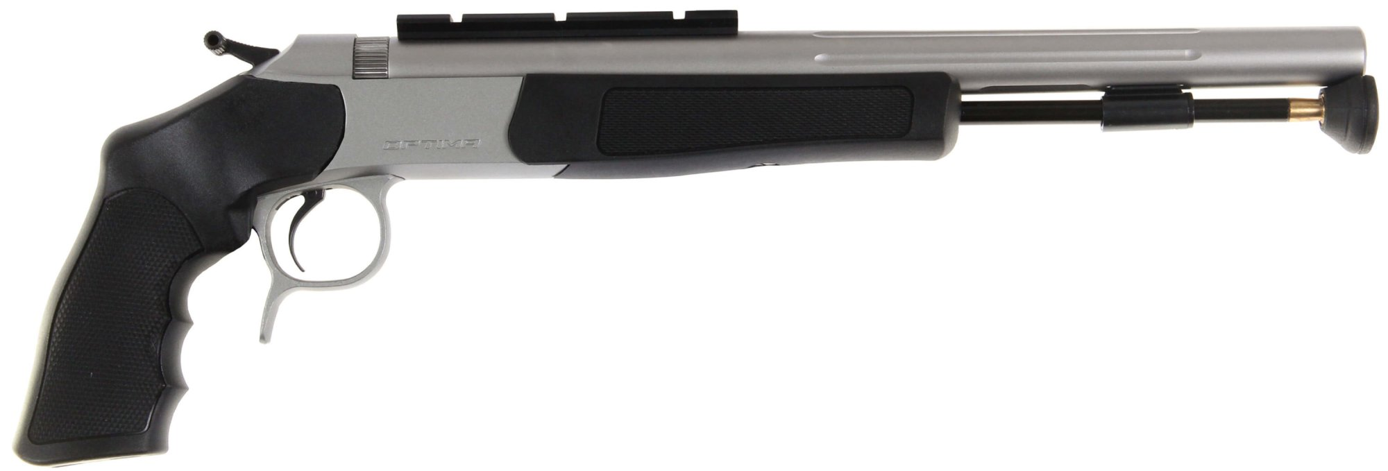 hight resolution of optima v2 pistol stainless steel with black stocks