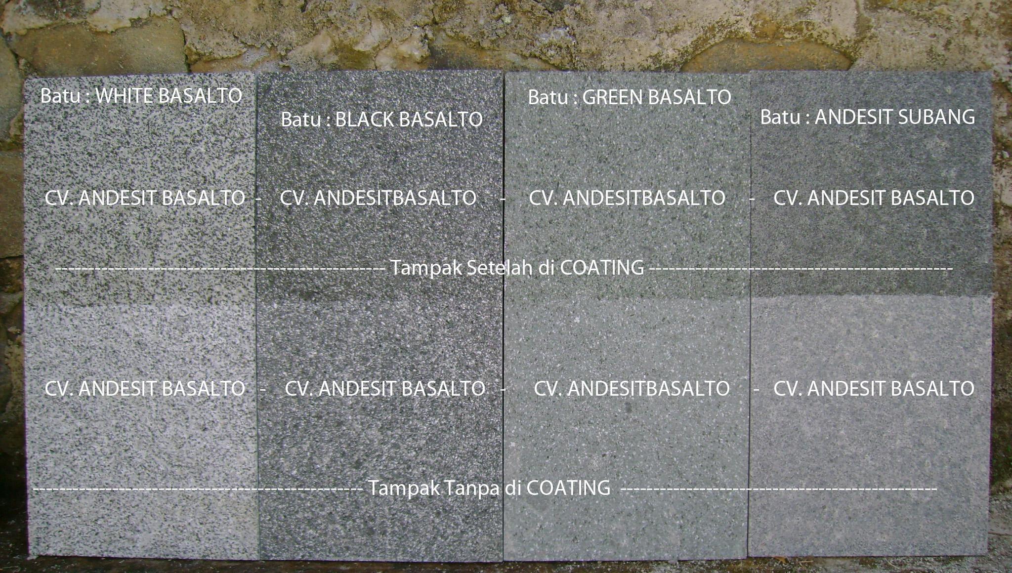 Batu Alam Basalto HitamHijauPutih dan Andesit Abu Abu
