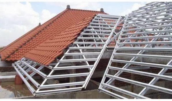 plafon dari baja ringan jasa penyediaan dan pemasangan rangka atap hollow