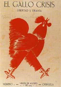 Portada de la revista El gallo crisis, agosto de 1934.