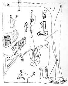 [Dibujo] Dibujo de Alejandra Pizarnik