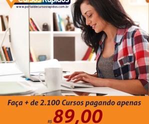 Faça mais de 2100 cursos com certificado por apenas 89,00