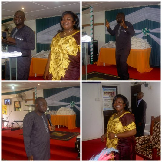 Yet another Sunday with Rev. & Rev. Pastor Olatona