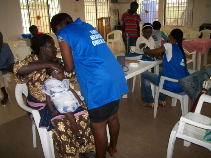 Blood Pressure and Temperature Check for a mother