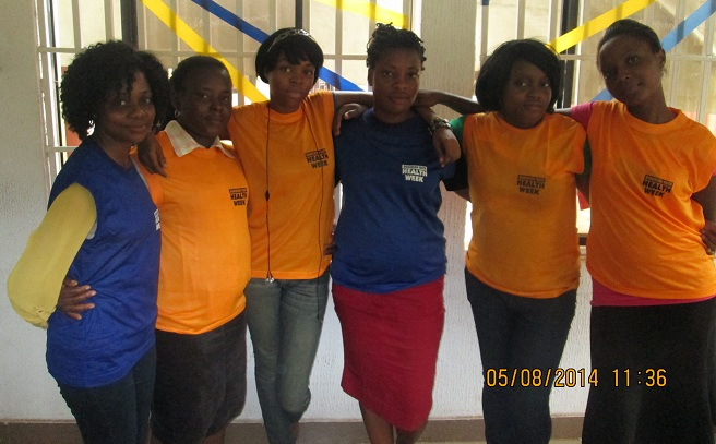 Some of the volunteers for the Health Week