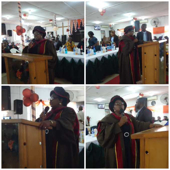 Executive Director Bamidele Olatona giving the final speech