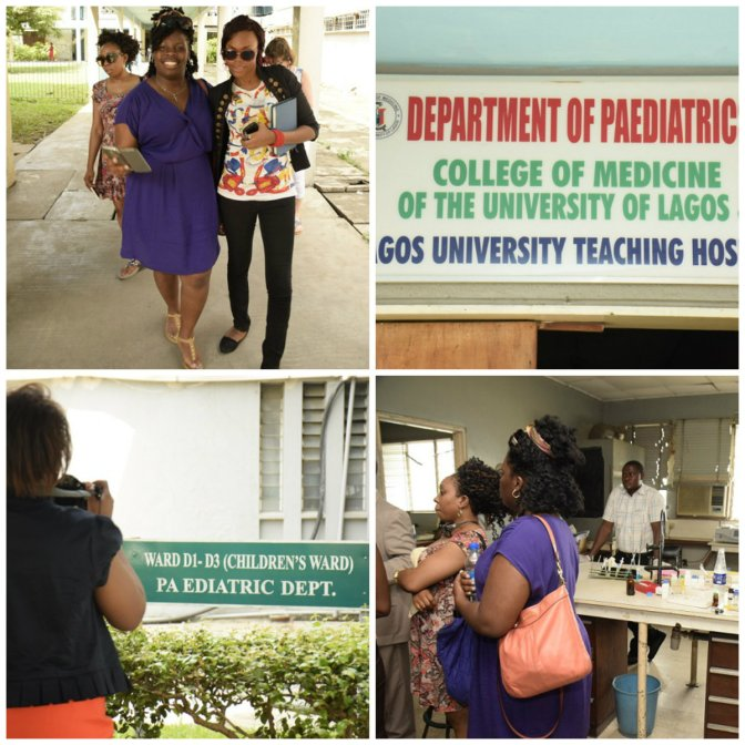 The team visiting Lagos University Teaching Hospital