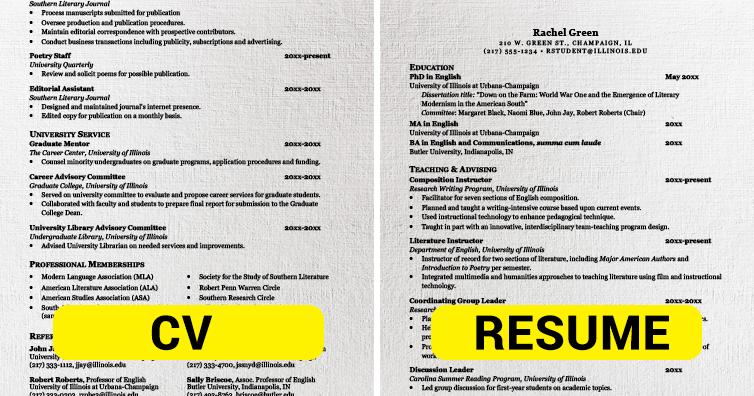 CV vs. Resume