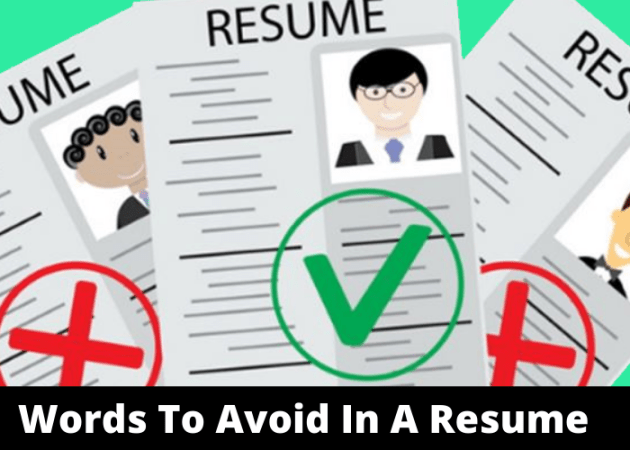 30 Words To Avoid In A Resume