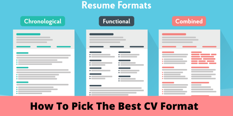 How To Pick The Best CV Format To Land A Job