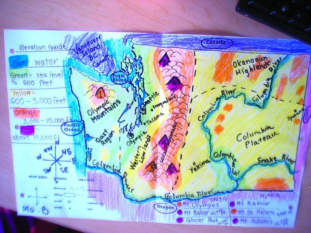 Project Washington Topo Map