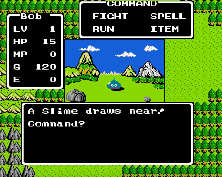 Game NES Dragon Warrior