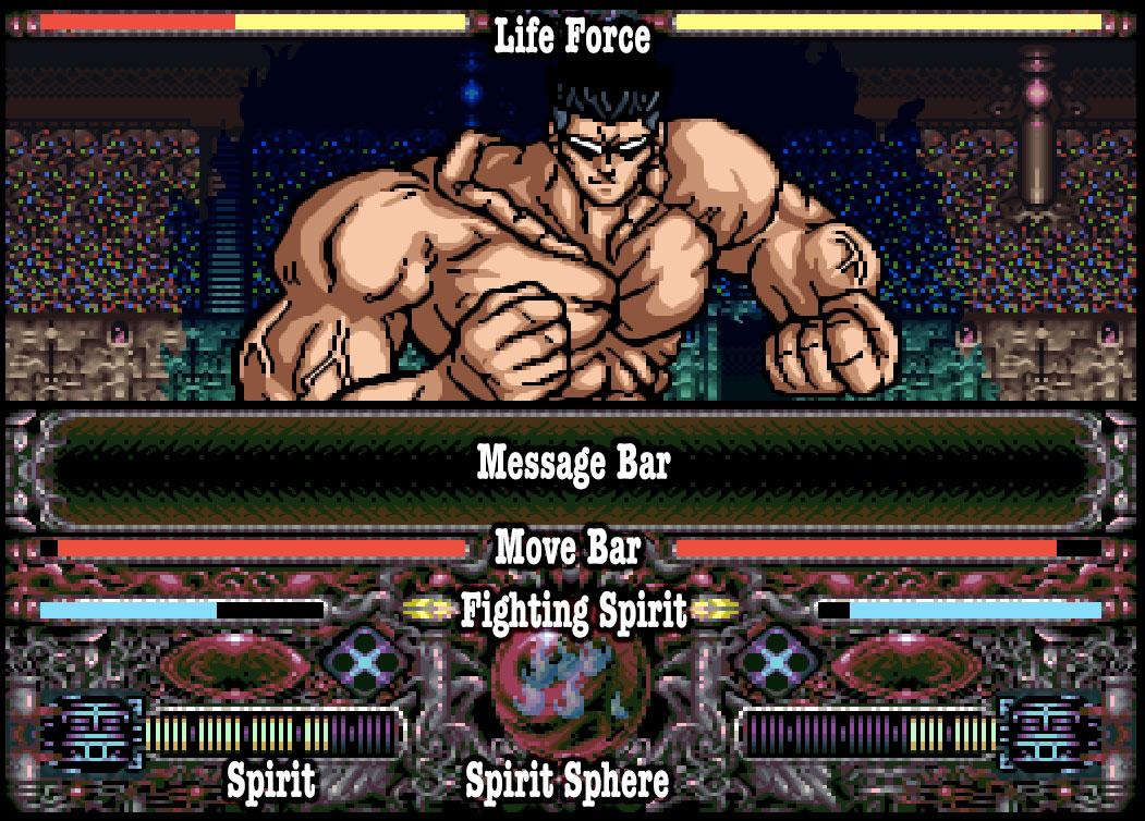 giao diện đối chiến trong Yu Yu Hakusho