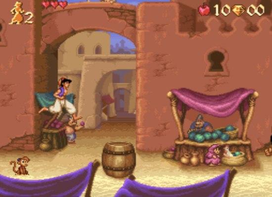 game SNES hay phần 1 Aladdin