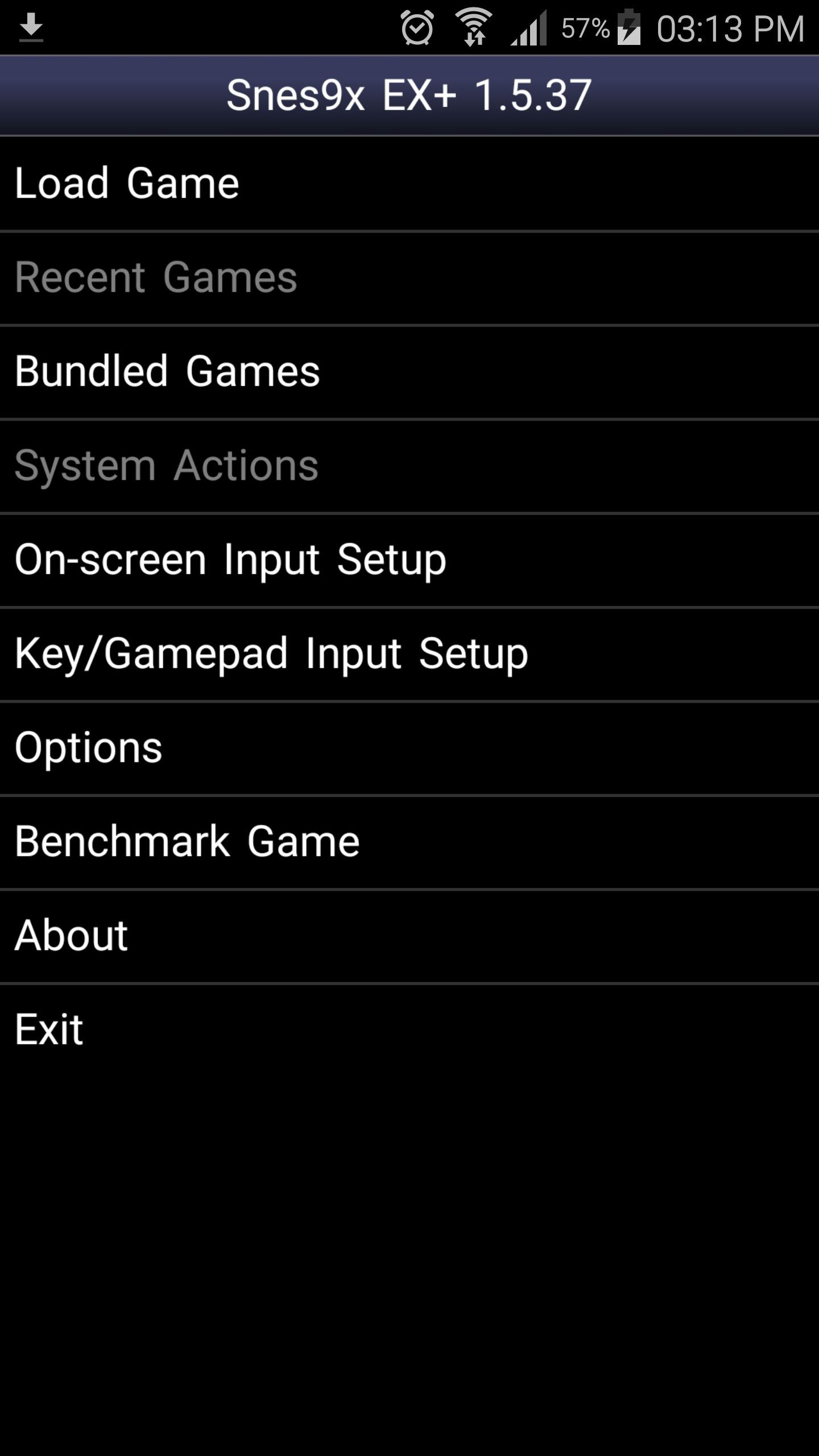 giao diện phần mềm Snes9X EX+