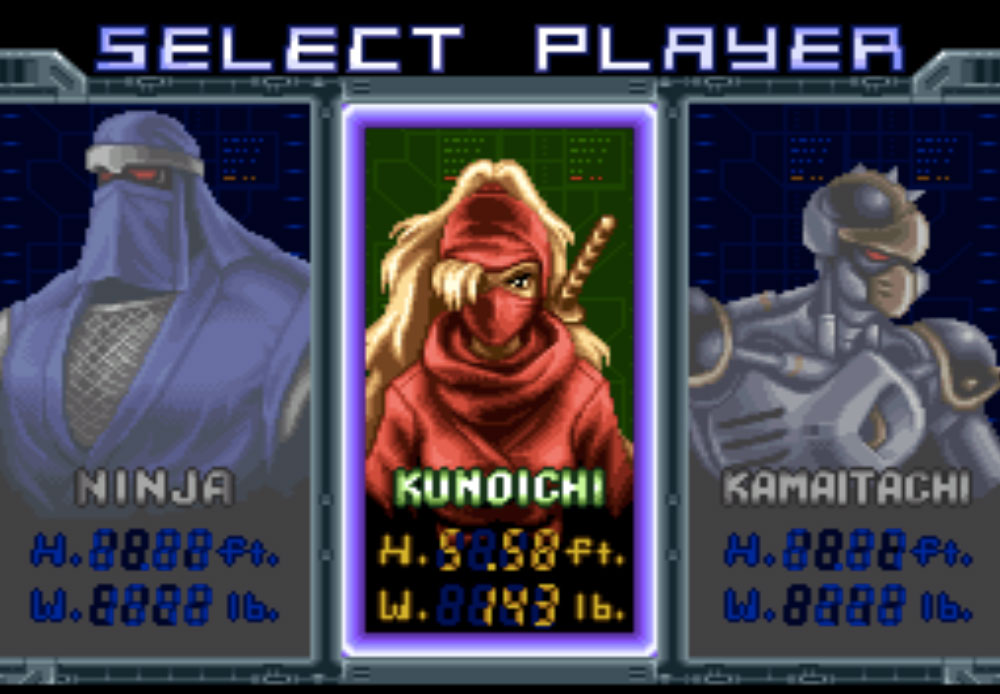 game SNES hay phần 22 Ninja Warriors