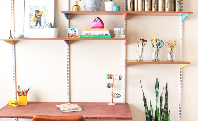Pinned It Made It Loved It Diy Mounted Wall Desk The