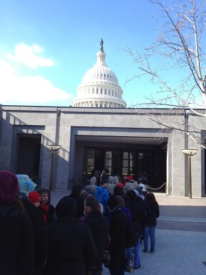 Students arrived at Capitol Hill.