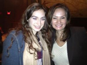 Kate Pellegrini met US Treasurer Rosa Rios.