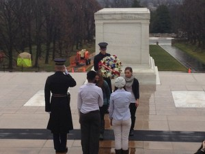 CVHS students left a wreath at the Tomb of the Unknown Soldier.
