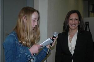 Callie Ross-Smith interviews Attorney General Kamala Harris.