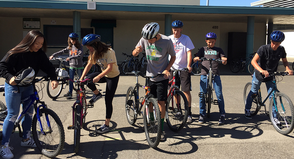 PE classes cycle through new biking unit