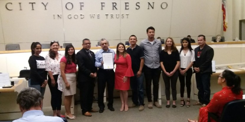 Fresno City Council Immigrant Heritage Month Proclamation June 13 2019 CVIIC