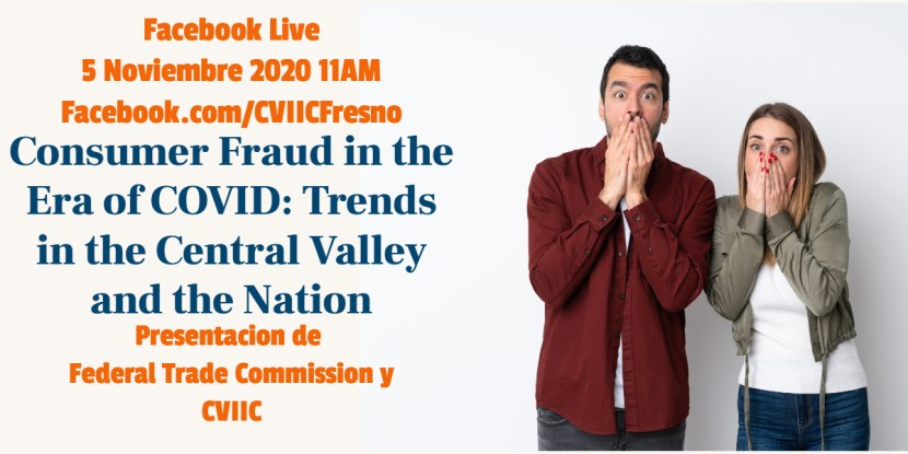 Consumer Fraud in the Era of COVID Webinar Co-Hosted by FTC and CVIIC
