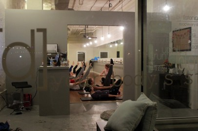 And so it begins. Erin tries out a beginner class at barre.[d] studio with owner Hanna Dobbels.