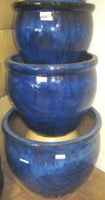 Pots ranging in size from 18 to 24 inches.