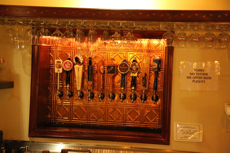 The beer selection at Fame—both in the shop and in the lounge—is surprising and unique. (Photo by Sean Planck)