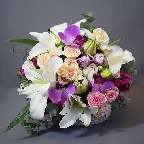 buket-cvijeća-ruže-ljiljani-orhideje
