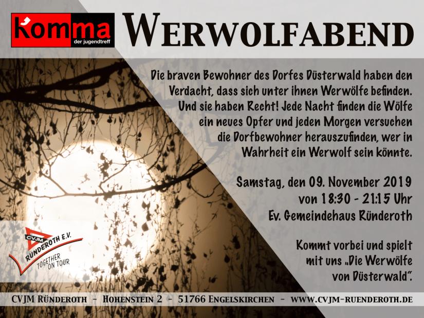 Kom'ma Werwolfabend