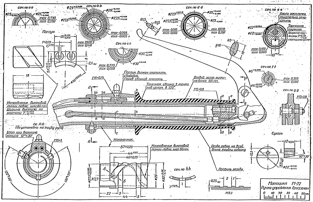 Russian M72 Motorcycle Blueprints