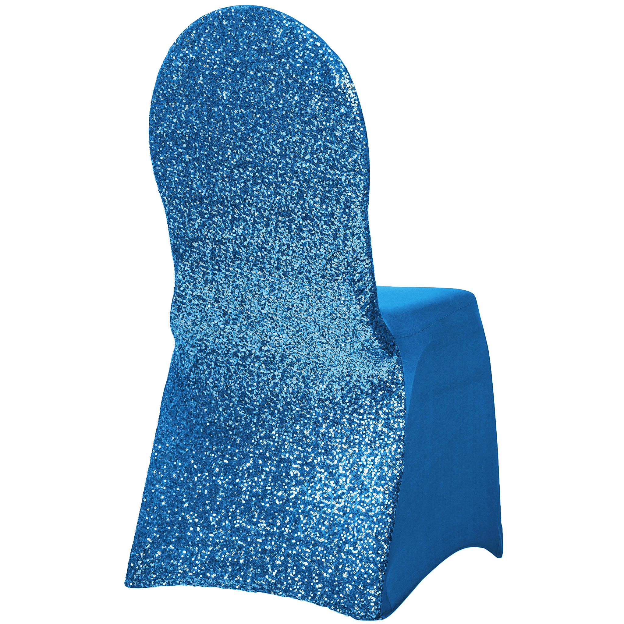 Royal Blue Chair Glitz Sequin Stretch Spandex Banquet Chair Cover Royal Blue