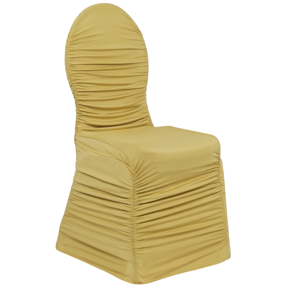 Your Chair Covers Ruched Fashion Spandex Banquet Chair Cover Gold Deal Of The Day Ends 09 14